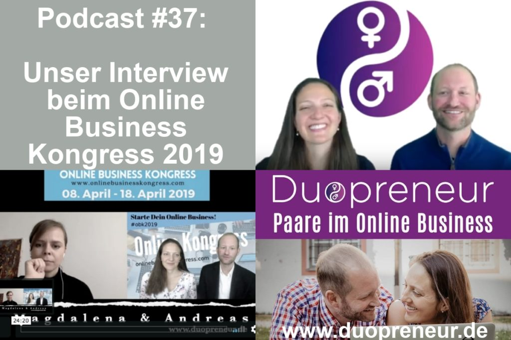 Duopreneur im Interview im Online Business Kongress