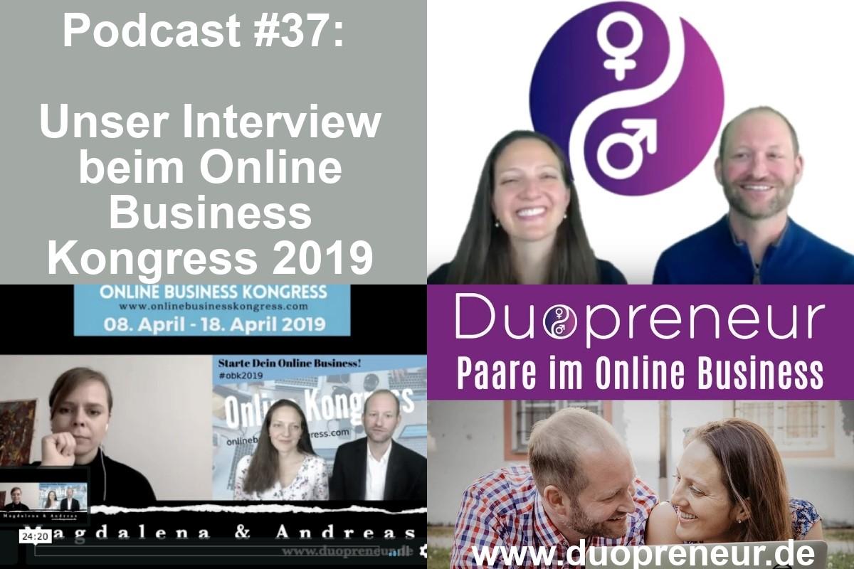 Duopreneur im Interview im Online Business Kongress