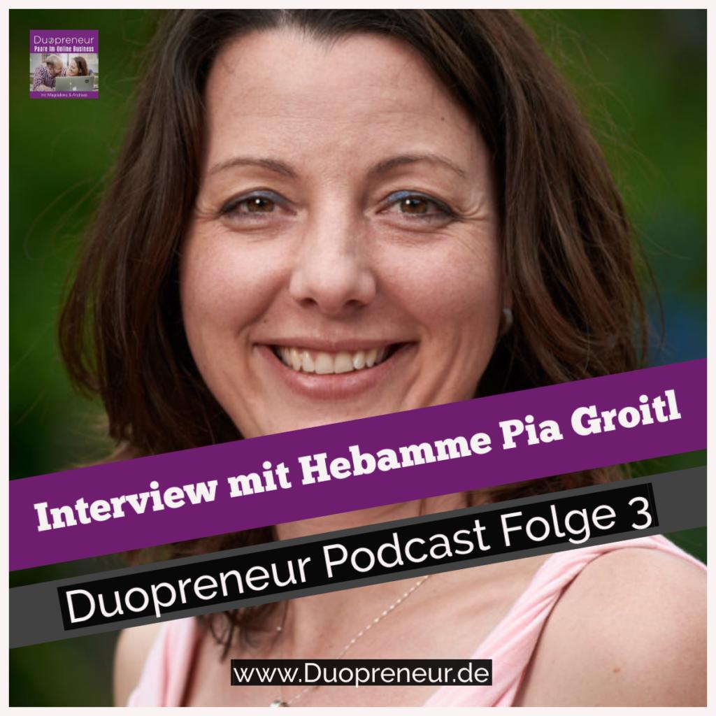 Pia Groitl zum Online Kurs zur Geburtsvorbereitung