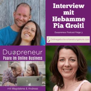 Onlinegeburtsvorbereitungskurs Interview mit Hebamme Pia Groitl