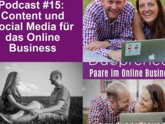 Content und Social Media für das Online Business-Folge mit Magdalena und Andreas #015